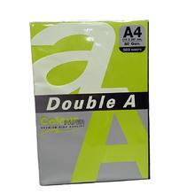Цветна хартия Double A, 80гр., Neon green, 24381