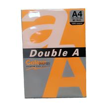 Цветна хартия Double A, 80гр., Neon orange 24383