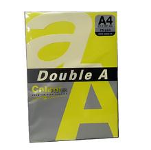 Цветна хартия Double A, 75гр., Neon yellow, 24382