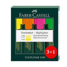 Комплект текст маркери Faber-Castell 1548 3 цвята + 1, 21575