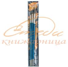 Комплект четки за рисуване KITE, кръгли, 3 бр.- № 3, 7, 11