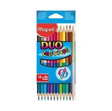 Цветни моливи MAPED Duo, 12бр./24 цвята