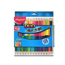 Цветни моливи MAPED Duo, 24бр./48 цвята