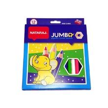 Цветни моливи Nataraj Jumbo, 12 цвята