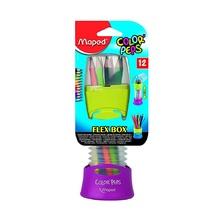 Цветни моливи MAPED Flex Box, 12 цвята