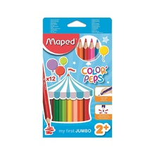 Цветни моливи MAPED Jumbo Early, 12 цвята