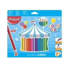 Цветни моливи MAPED Jumbo Early, 24 цвята