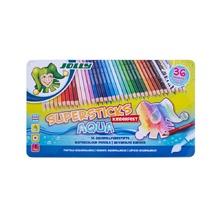 Акварелни моливи JOLLY Supersticks, 36 цвята, метална кутия