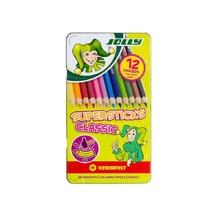 Цветни моливи JOLLY Supersticks, 12 цвята, метална кутия