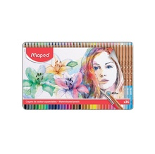 Акварелни моливи MAPED 51, 36 цвята в метална кутия