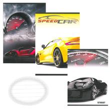 Тетрадка А5, 60 л., офсет, ред, Lux Cars