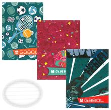 Тетрадка GABOL, 20 л., А5, малки кв.
