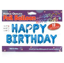 Транспарант Happy Birthday, различни цветове