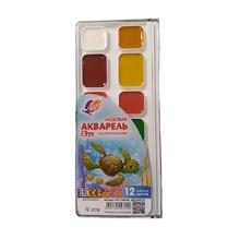 Акварелни бои Луч Zoo, 12 цвята, мед