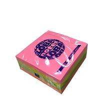 Самозалепващо кубче Global notes, 75 х 75 мм, 320 листа, неон