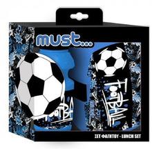 Комплект кутия за храна и шише за вода Must Football