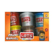 Пластелин Let's L8350, 6 цвята