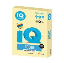 Цветен картон IQ Color, А4, 250 листа, Yellow, YE23