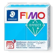 Полимерна глина STAEDTLER Fimo Effect №374, Полупрозрачна, Синя