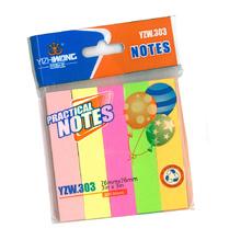 Самозалепващи индекси Notes 76х76мм 100бр, хартиени, 5 цвята