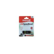 Флаш памет MAXELL SPEEDBOAT, USB 2.0, 8GB, Черен