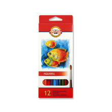 Акварелни цветни моливи KOH-I-NOOR, 12 цвята